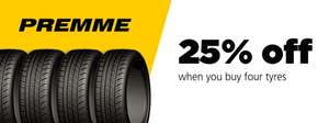 Get 25% off Four Premme Tyres ECOPRO7 with AA Tyres