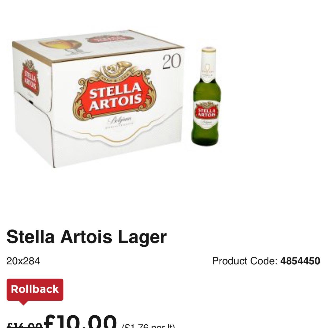 Stella Artois Lager £10 @ Asda