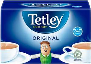 Tetley Tea Bags (240) was £5.80 now £3.00 @ Tesco