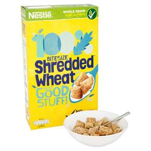 Nestle Shredded Wheat Bitesize Cereal (750g) was £3.20 now £1.60 @ Tesco