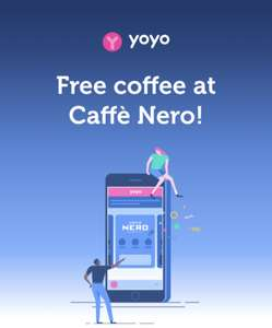 Free Coffee @ Caffe Nero for Yoyo Wallet Members