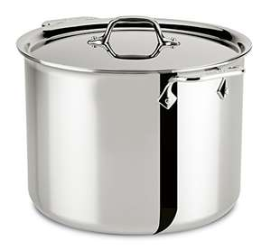 All Clad Stainless Steel Meat and Vegetable Pot with Lid, Pot 11.4 litre 4512 – 26.7 cm - £253.64 at Amazon