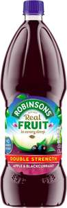 Robinsons Double Concentrate Blackcurrant and Apple No Added Sugar (1.75L) was £3.75 now £1.87 @ Tesco