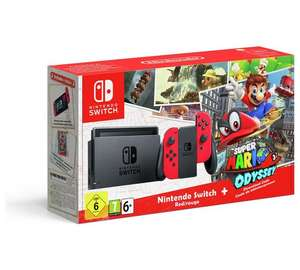 Nintendo Switch with Red Joycons and Mario Odyssey download Limited Edition £319.99 - Argos incl £10 Gift voucher