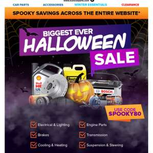 Euro car parts sale use code SPOOKY80