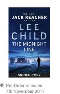 New Lee Child Jack Reacher *Signed* £12 -  WH Smith