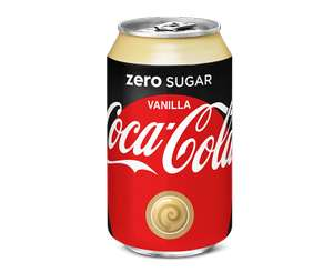 Five 330ml cans of Coca Cola Zero Sugar Vanilla drink for £1 at Heron Foods