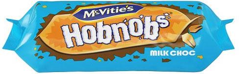 Mcvities Milk Chocolate Hobnobs 262G McVities Milk Chocolate Hobnobs (262g) Half Price was £1.50 now 75p @ Tesco