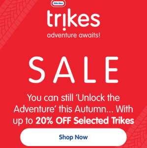 20% off little tikes trikes and role play items @ Little Tikes