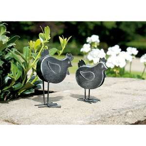 Gardman Decorative Iron Chick Garden Ornament 23p @ Homebase