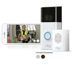 Ring Doorbell 2 plus Chime £169 @ Argos (Possibly £10 cashback with Argos Voucher)