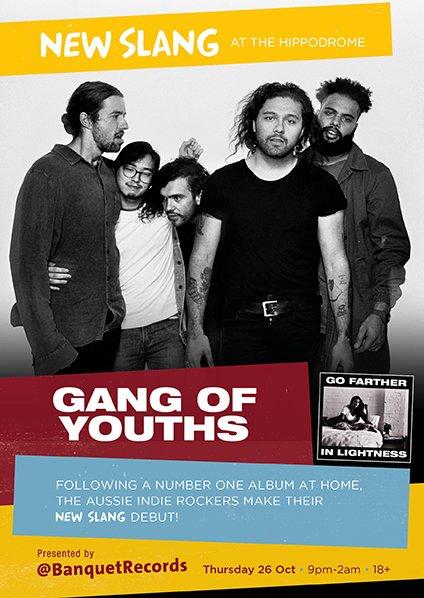 Gang Of Youths play Thurs 26th Oct at New Slang, Kingston, KT1 2AH - kingstonhippodrome