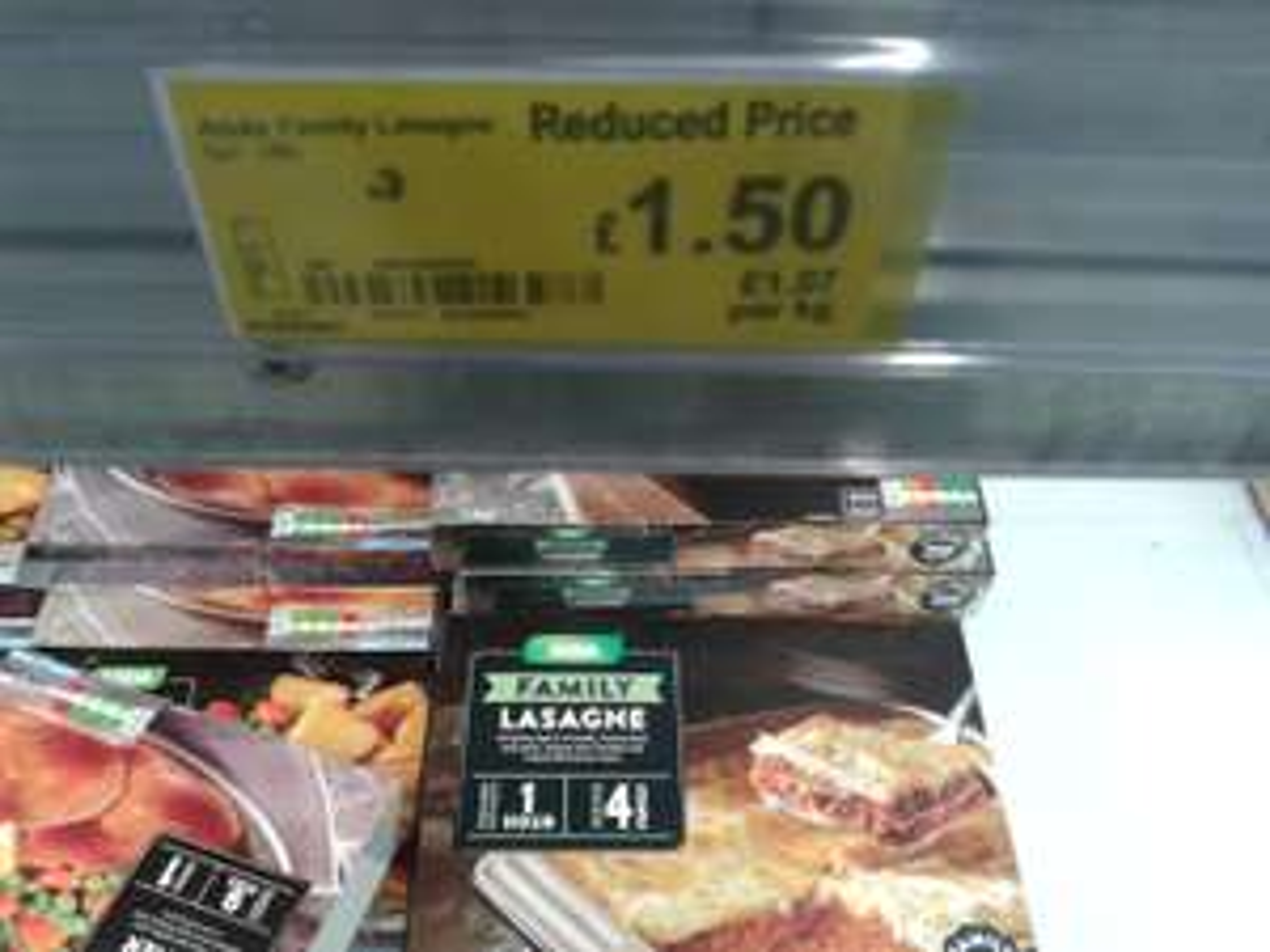 1.4 kg Family Sized Lasagne £1.50 @ Asda Instore
