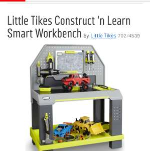 Little Tikes Construct 'n Learn Smart Workbench £109.99 @ argos