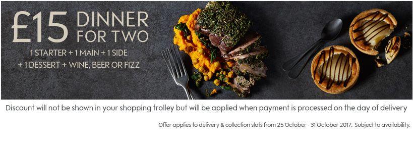 Waitrose meal deal - Starter, Main, Side, Desert, Prosecco £15