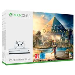 Xbox One S Assassin's Creed: Origins 500GB Bundle with Doom UAC + Dishonored 2 + Fallout 4 and NOW TV  £229.99 @ Game