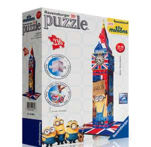 Ravensburger 3D minions Big Ben puzzle £3.99 @ home bargains