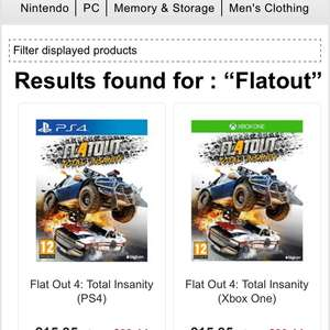 Flatout 4 on PS4 and Xbox one £15.85 from base.com