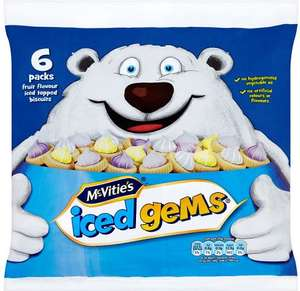 McVitie's Iced Gems (6 per pack - 150g) was £1.00 now 75p @ Iceland