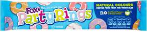 Foxs Party Rings Biscuits (125g) was 99p now 49p @ Tesco