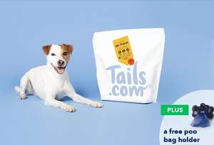 One month of tailor-made dog food for £1 plus a free poo bag holder and bags (Tails.com via O2 Priority)