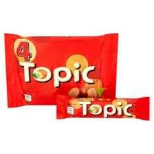 Topic Chocolate Bars x4 for £1 at Farmfoods