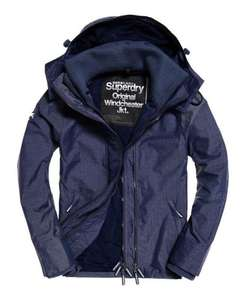 Mens Superdry Pop Zip Hooded Technical Windcheater Jacket Navy £36.99 delivered  @ Superderdry eBay (few more in OP)