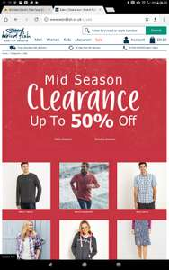 Weird Fish Mid Season Sale up to 50% off + further 15% with code AWNDAC