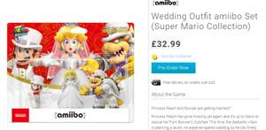 amiibo mario odyssey wedding outfit three pack £32.99 Nintendo Store