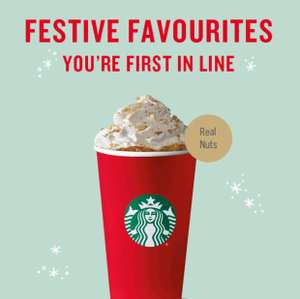 Starbucks Christmas Menu Available now with Starbucks Rewards - from 2nd Nov