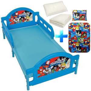 DC Comics 4 in 1 Super Friends Bundle includes Toddler Bed Frame + Junior Duvet + Pillow +  Duvet Cover & Pillowcase £49.99 Del @ Ebay (sold by Pink and Blue Gifts) + Extra 10% Off wys £50 Offer