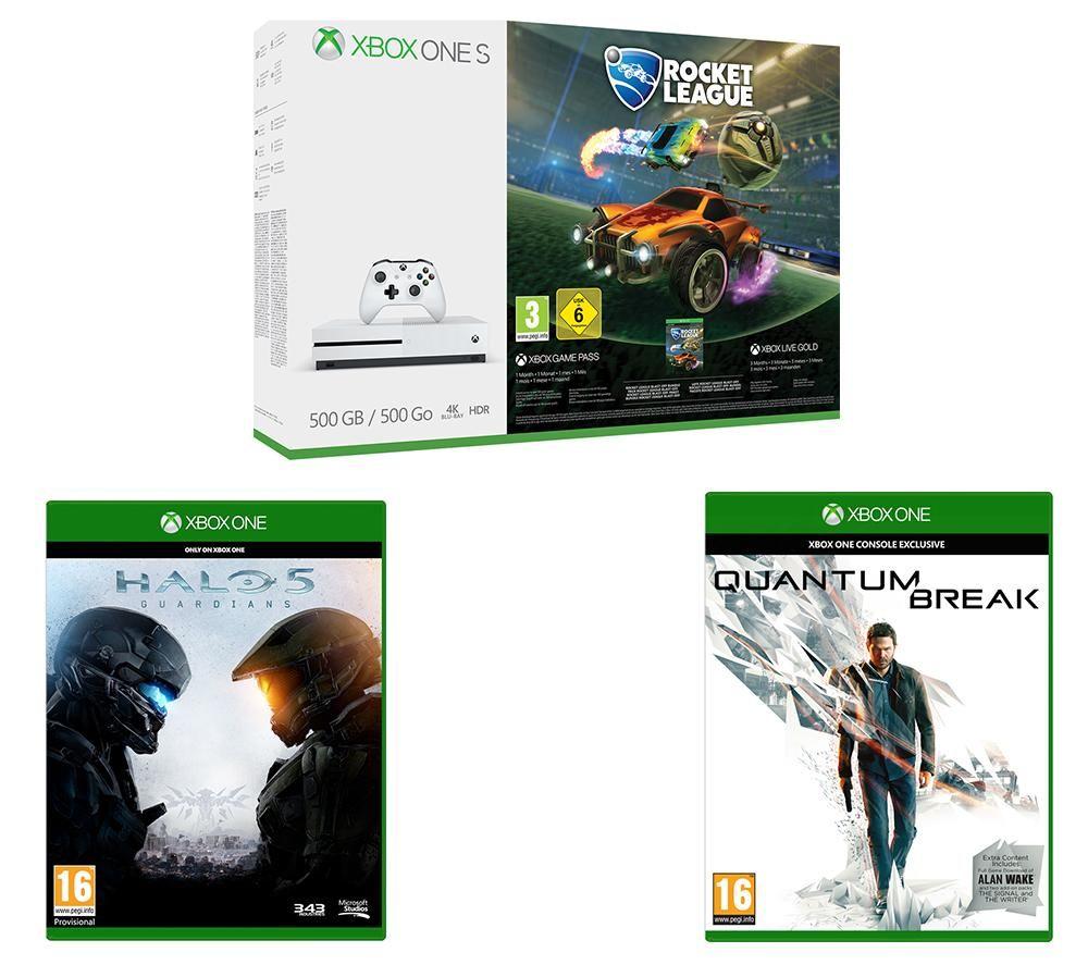 Xbox One S, Rocket League/Quantum Break/Halo 5 & 3 Month Xbox Live - £230 @ Currys