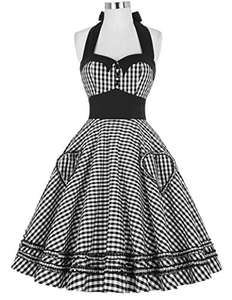 GRACE KARIN Women 1950s Vintage Halterneck Dress Polka Dots Cotton Dress 16 Colors XS~3XL  at £8.99 - £13.99 at Amazon (+£4.75 non-Prime)