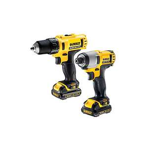 Dewalt impact driver and drill + 2 batteries + bag £125 at B&Q