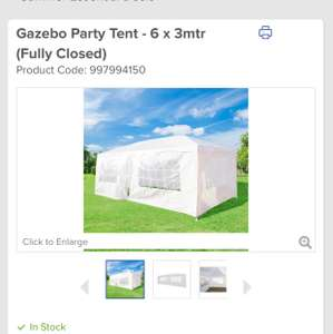 Gazebo Party Tent - 6 x 3mtr (Fully Closed) save 71% plus free delivery