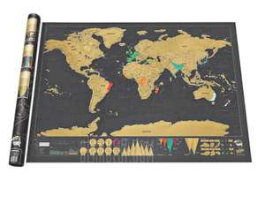 Erase Travel World Map Wall Poster / Sticker (Scratch off countries you've visited) £4.58 (£6.47 Delivered) @ Gearbest
