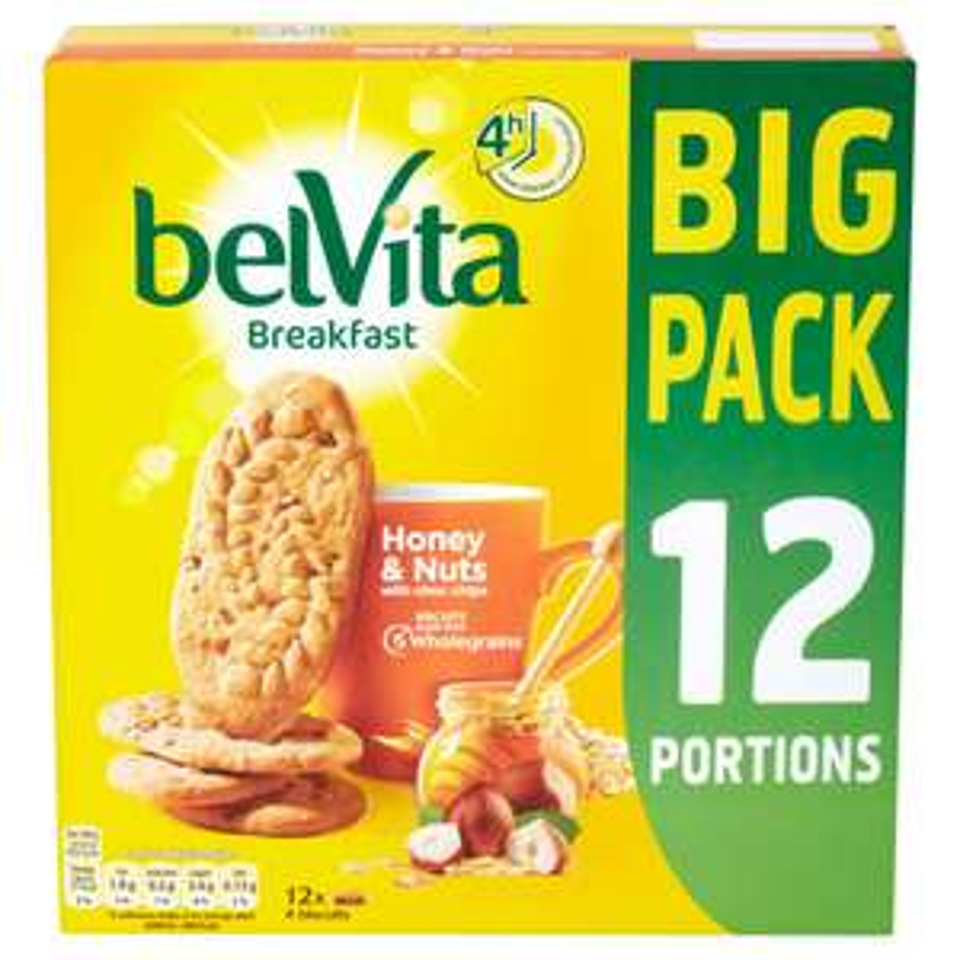 12 packs of Belvita breakfast biscuits (honey & nuts) for £2 @ Home Bargains Workington