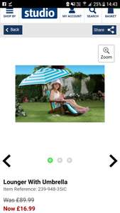 Kids sun lounger £16.99 / £21.98 delivered @ Studio