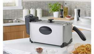 George Home 3L Pro Deep Fat Fryer - Stainless Steel £15 @ Asda