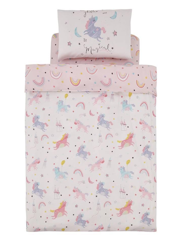 Reversible Magical Unicorns Cotton Rich Duvet Cover (was £15) Now £8.10 C&C @ Very