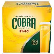 Crates of Cobra 12x330ml in 3 for £21 at Asda