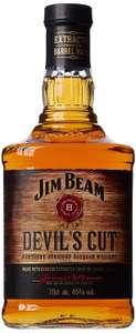 Jim Beam Devils Cut Kentucky Straight Bourbon 45% 70cl  £16.00  Asda