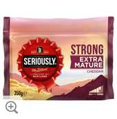 Seriously Strong Cheddar Cheese, All Varieties, 350g/300g, £2 @ Morrisons (& Co-op)