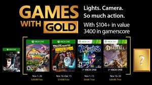 Games with Gold for November (Trackmania Turbo / Tales from the Borderlands / NiGHTS into dreams / Deadfall )