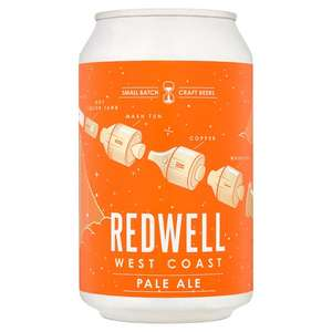 Redwell West Coast Pale and Steam lager £1.29 per 330ml can instore Aldi