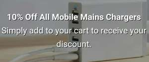 mymemory 10% discount on all mobile phone chargers