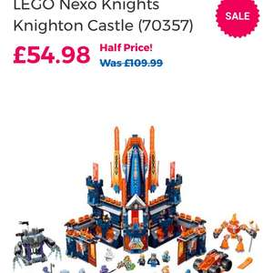 Half Price Lego Nexo Knights @ Toys r us instore / online