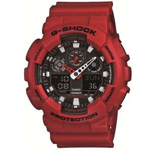 G-Shock GA-100B-4AER RED £59.84 with voucher plus free delivery @ watchshop