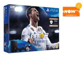 PlayStation 4 500GB FIFA 18 with Second DualShock 4 Controller	plus NOW TV 2 Months Entertainment Pass £229.99 @ Game