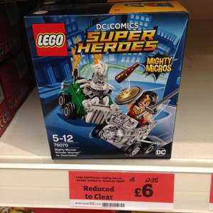 Lego 76070 DC Comics Superheroes, Mighty Micros Wonder Woman Set £6 in-store at Cannock Sainsburys